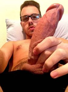 Australian Nerd Guy Shows His Thick Dick On Gay Webcam
