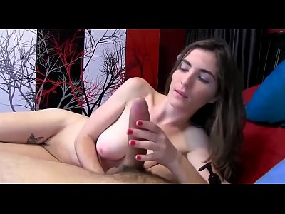 Russian Cam Girl Loves To Give Her BF A Handjob
