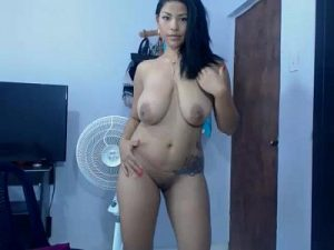 Stunning Latina Cam Model Goes Completely Nude And Proudly Shows Her Perfect Curvy Body