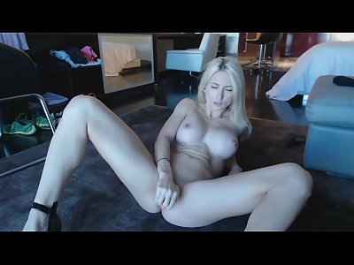 Busty Blonde Cam Model Does A Great Solo Live Show