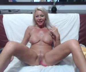 Amazing Blonde Milf Kym Totally Naked On Webcam