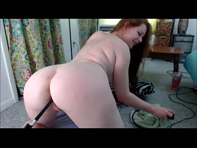 Curvy Redhead Cam Whore Fucked By The Fuck Machine