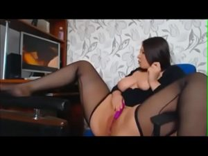 Chubby Slut Kerry Masturbates Her Pussy To Porn And Cums