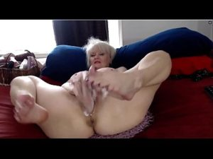 Mature Blonde Slut Betty Toys Her Vagina And Cums On Webcam