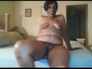 Nasty Black Granny Goes Naked And Talks Dirty On Her Show
