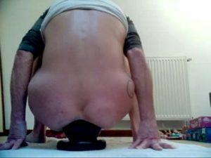 Twisted Mature Slut Annabelle Rides A Giant Butt Plug
