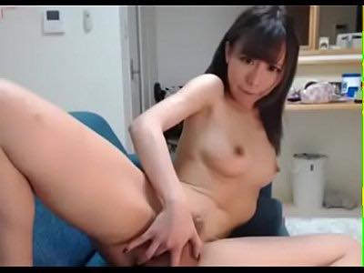 Adorable Japanese Teen Girl Finger Bangs Her Cunt While Home Alone
