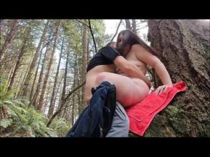 Fat Cam Girl Gets Her Cunt Fucked And Creampied In The Forest