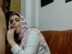 Nasty Arab Slut Sucks Cock And Gets Pounded From Behind On Cam