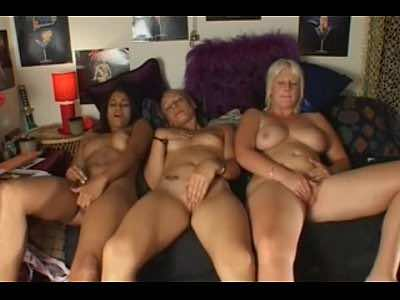 Three Milfs Masturbate Their Shaved Pussies Together