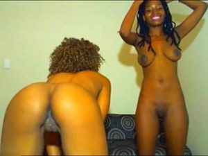 Two Sexy African Women Dance Naked For Tips