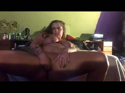 Nasty BBW Fucks Herself With Dildo Intensively And Squirts