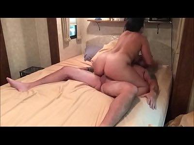 Masked Milf Riding Cock Until Creampie