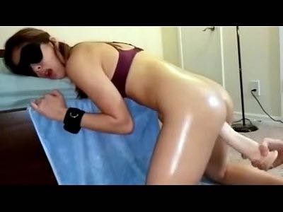 Skinny Asian Girl Gets Her Holes Wrecked With Dildo